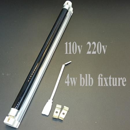 110V-240V T5 uv lamp 4W 6W 8W BLB lamp With fixture and wire Free Europe Plug Black Light Blue Light Bulb