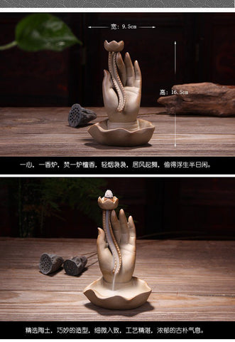 Lotus Hand Incense Burner