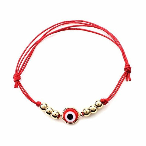Lucky Red Bracelet with Eye Charm