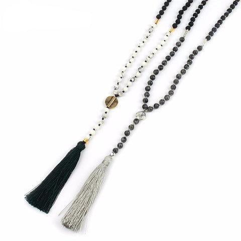 Boho Tassel Meditation Necklace