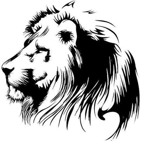 19.5X20CM Meditation Lion Vinyl Decals Car Sticker Motorcycle Individualization Car-styling S6-2108