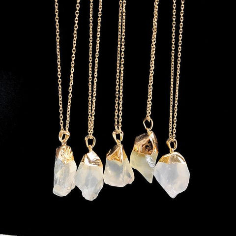 Whitened Natural Stone Necklace