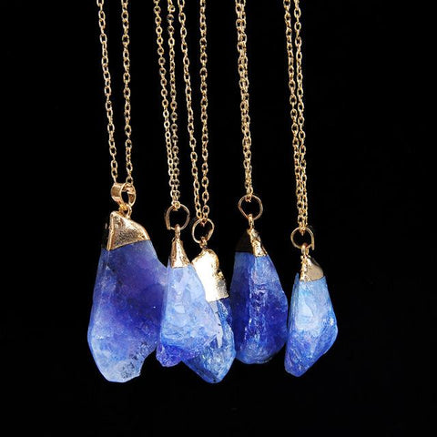 Ocean Blue Natural Stone Necklace