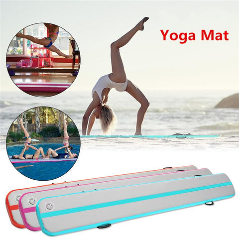 500*40*15cm Inflatable Floating Yoga Mat Air Tumbling Track SUP Paddle Board GYM Fitness & Body Building Yoga Pads