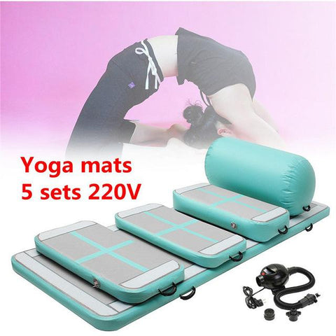 110v/220v Inflatable Tumbling Mats Air Tracks Floor Home Gymnastics Mat GYM + Air Pump Fitness Yoga Mat Gym Exercise Mats