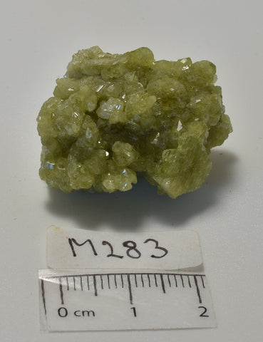 VESUVIANITE NATURAL CRYSTAL CLUSTER, Jeffrey Mine, Quebec CANADA (M283)
