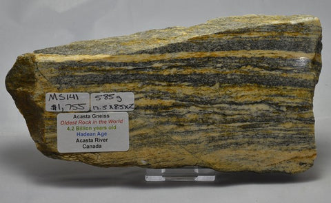 "ACASTA GNEISS, ""OLDEST ROCK"" CANADA (MS141)"