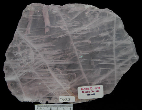 ROSE QUARTZ POLISHED CRYSTAL SLICE IN NATURAL FORM, 535g, BRAZIL (S323)