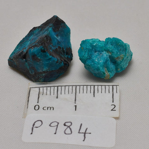 CHRYSOCOLLA RAW NATURAL CRYSTAL GEMSTONES x 2 (P984)
