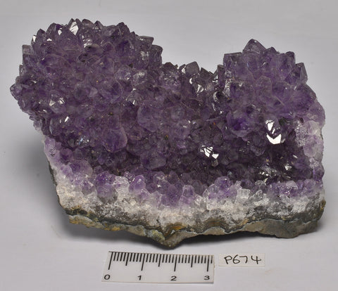 AMETHYST CRYSTAL CLUSTER , FROM URUGUAY P674