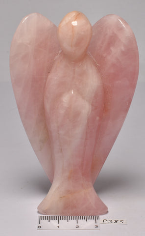 ROSE QUARTZ ANGEL CARVING 10 CM P285