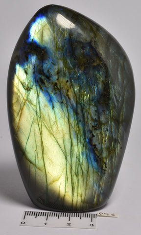 LABRADORITE CRYSTAL Polished Freeform, Madagascar P95