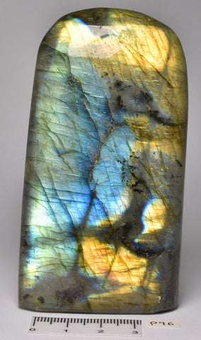 LABRADORITE CRYSTAL Polished Freeform, Madagascar P96