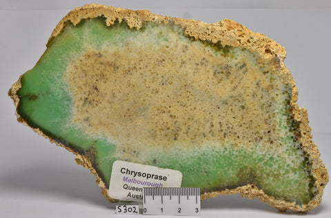 CHRYSOPRASE Polished Slice, 320g, Malbourough QLD Australia. (S302)