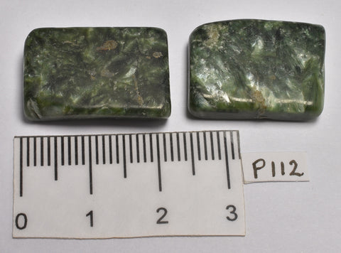2 x SERAPHINITE POLISHED CRYSTALS P112