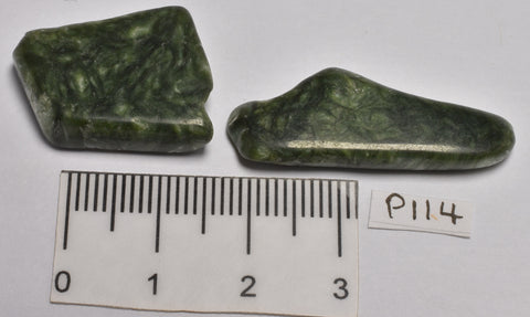 2 x SERAPHINITE POLISHED CRYSTALS P114