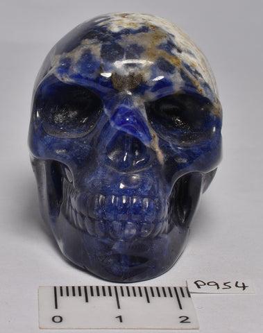 SODALITE CRYSTAL CARVED SKULL P954