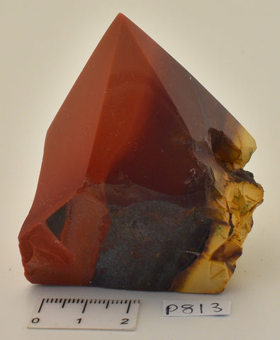 MOOKAITE POLISHED CARVED POINT, Fossil Radiolarian, Australia P813