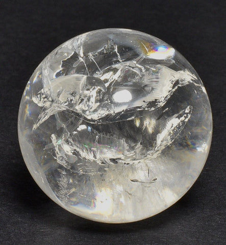 CLEAR QUARTZ CRYSTAL SPHERE P609