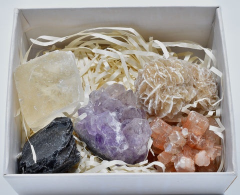 5 x MINERAL ROCKS CRYSTAL COLLECTION P392