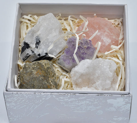 5 x MINERAL ROCKS CRYSTAL COLLECTION P400