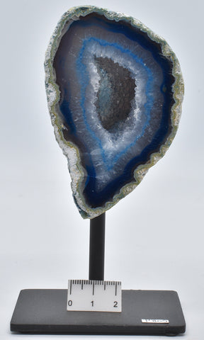 Agate, Dyed, Polished Geode Sliced from Brazil on Stand P805