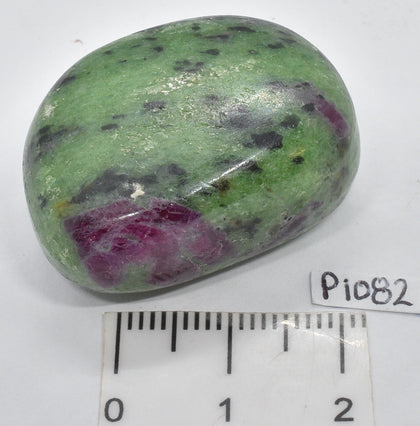 RUBY and ZOISITE POLISHED CRYSTAL TUMBLE P1082