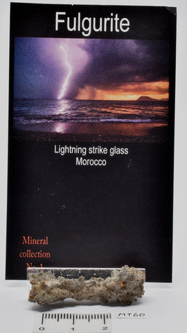 FULGURITE LIGHTNING STRIKE GLASS MOROCCO MT60