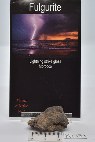 FULGURITE LIGHTNING STRIKE GLASS MOROCCO MT131