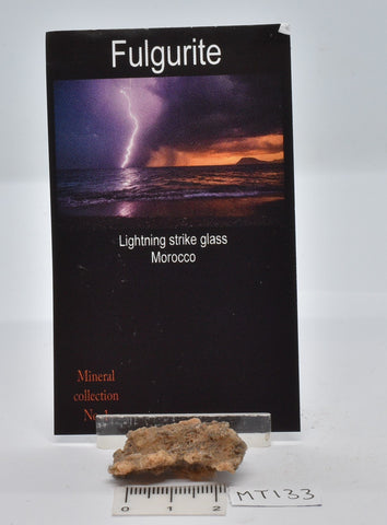 FULGURITE LIGHTNING STRIKE GLASS MOROCCO MT133