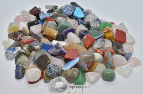 MIXED POLISHED CRYSTALS TUMBLES 1 KILO P155