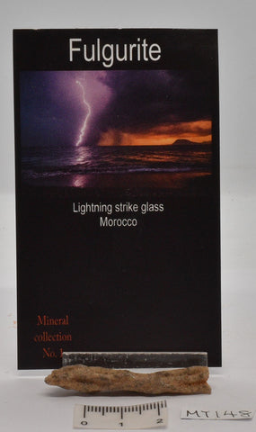 FULGURITE LIGHTNING STRIKE GLASS MOROCCO MT148