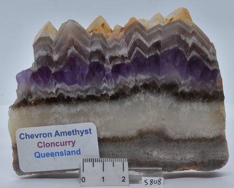 CHEVRON AMETHYST SLAB, POLISHED, QUEENSLAND, AUSTRALIA S808