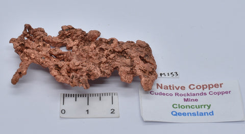 NATIVE COPPER, CLONCURRY, QUEENSLAND, AUSTRALIA M153