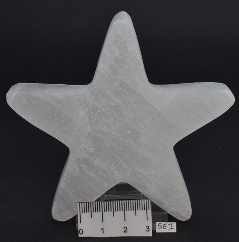 SELENITE STAR CARVING 10 CM SE1