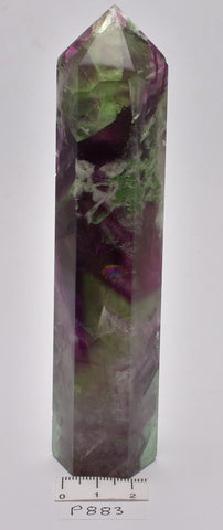 FLUORITE CRYSTAL POINT/ GENERATOR 13.5 cm P883