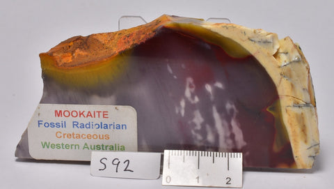 Mookaite Jasper Slice, Polished, 130 grams (S92)