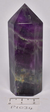 FLUORITE CRYSTAL POINT/ GENERATOR 8 cm P1034