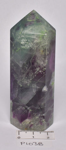 FLUORITE CRYSTAL POINT/ GENERATOR 8.5 cm P1038