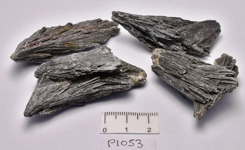 BLACK KYANITE X 4 PIECES from BRAZIL (P1053)