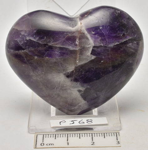 AMETHYST POLISHED PUFFY HEART 6 cm (P568)