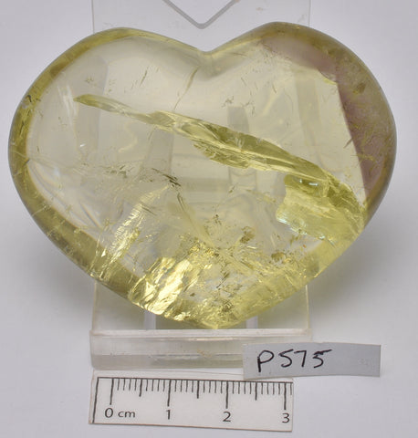 CITRINE POLISHED CRYSTAL PUFFY HEART (P575)
