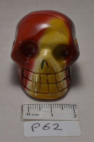 MOOKAITE CRYSTAL CARVED SKULL P62