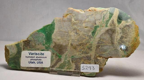 Variscite Hydrated Aluminium Phosphate Polished Slab 220g, USA (S293)