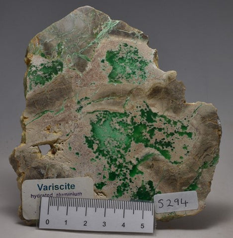 Variscite,hydrated aluminium phosphate Polished Slice 170g, USA (S294)