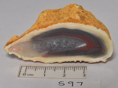 AGATE CREEK, High Grade Polished AGATE Half, AUSTRALIA (S97)
