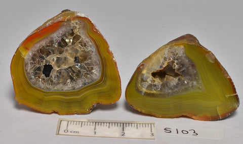 2 x AGATE CREEK, High Grade Polished AGATE Halves, AUSTRALIA (S103)