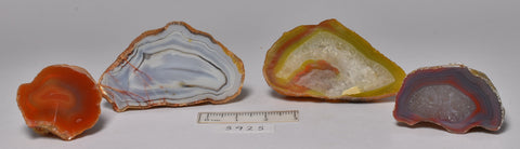 4 x AGATE CREEK, High Grade Polished AGATE Halves, AUSTRALIA (S925)