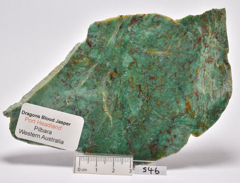 DRAGONS BLOOD JASPER POLISHED SLICE, Australia S46