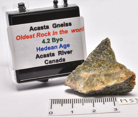 "ACASTA GNEISS Rough, ""OLDEST ROCK""12.1 grams CANADA MS306"